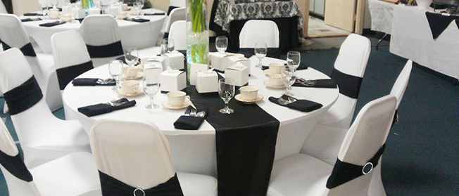 Black and white themed wedding ideas